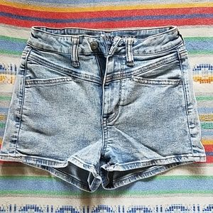 American Eagle High Waisted Acid Wash Shorts
